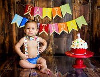 Calvin's First Bday/Cake Smash Portraits