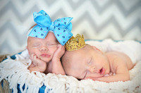 Aiden & Addison's Newborn Portraits